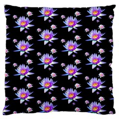 Flowers Pattern Background Lilac Large Cushion Case (two Sides)