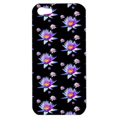 Flowers Pattern Background Lilac Apple iPhone 5 Hardshell Case