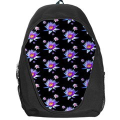 Flowers Pattern Background Lilac Backpack Bag