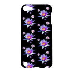 Flowers Pattern Background Lilac Apple iPod Touch 5 Hardshell Case