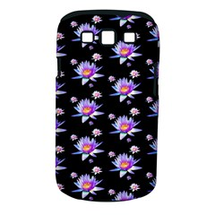 Flowers Pattern Background Lilac Samsung Galaxy S III Classic Hardshell Case (PC+Silicone)