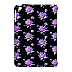 Flowers Pattern Background Lilac Apple iPad Mini Hardshell Case (Compatible with Smart Cover)