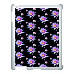 Flowers Pattern Background Lilac Apple Ipad 3/4 Case (white)