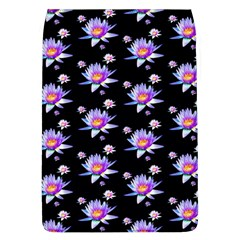 Flowers Pattern Background Lilac Flap Covers (L)