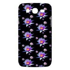 Flowers Pattern Background Lilac Samsung Galaxy Mega 5 8 I9152 Hardshell Case