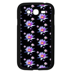 Flowers Pattern Background Lilac Samsung Galaxy Grand Duos I9082 Case (black)