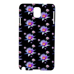 Flowers Pattern Background Lilac Samsung Galaxy Note 3 N9005 Hardshell Case