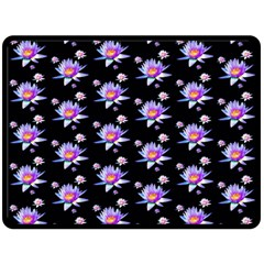 Flowers Pattern Background Lilac Double Sided Fleece Blanket (Large)