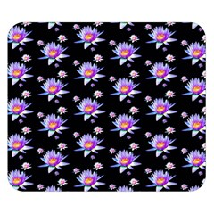 Flowers Pattern Background Lilac Double Sided Flano Blanket (small)