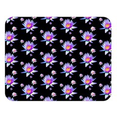 Flowers Pattern Background Lilac Double Sided Flano Blanket (large)