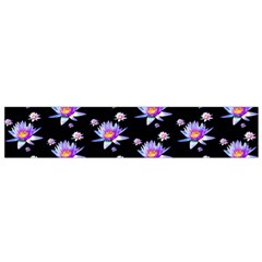 Flowers Pattern Background Lilac Flano Scarf (Small)