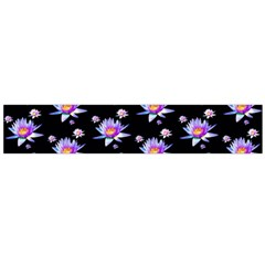 Flowers Pattern Background Lilac Flano Scarf (large)