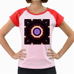 Mandala Art Design Pattern Women s Cap Sleeve T Shirt