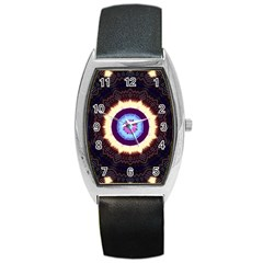 Mandala Art Design Pattern Barrel Style Metal Watch
