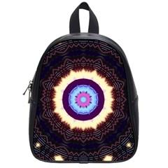 Mandala Art Design Pattern School Bags (small)