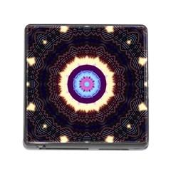 Mandala Art Design Pattern Memory Card Reader (Square)