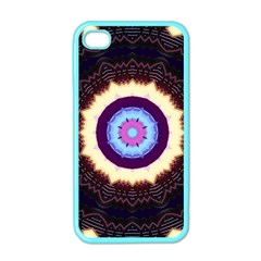 Mandala Art Design Pattern Apple Iphone 4 Case (color)