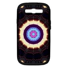 Mandala Art Design Pattern Samsung Galaxy S III Hardshell Case (PC+Silicone)