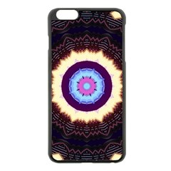 Mandala Art Design Pattern Apple iPhone 6 Plus/6S Plus Black Enamel Case