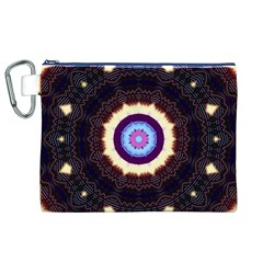 Mandala Art Design Pattern Canvas Cosmetic Bag (XL)