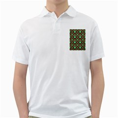 Pattern Background Bright Brown Golf Shirts