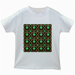 Pattern Background Bright Brown Kids White T Shirts