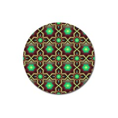 Pattern Background Bright Brown Magnet 3  (Round)