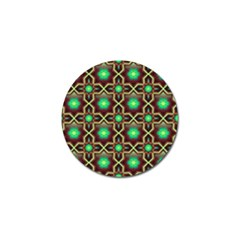 Pattern Background Bright Brown Golf Ball Marker (4 pack)