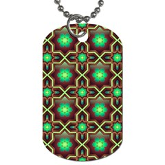 Pattern Background Bright Brown Dog Tag (two Sides)