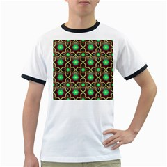 Pattern Background Bright Brown Ringer T Shirts