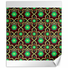Pattern Background Bright Brown Canvas 8  x 10