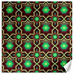 Pattern Background Bright Brown Canvas 16  X 16