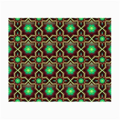 Pattern Background Bright Brown Small Glasses Cloth (2-Side)