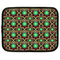 Pattern Background Bright Brown Netbook Case (large)