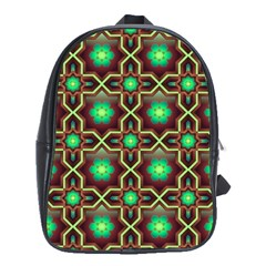 Pattern Background Bright Brown School Bags(large)