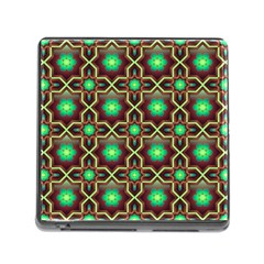Pattern Background Bright Brown Memory Card Reader (Square)
