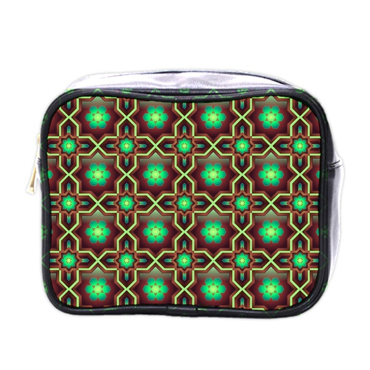 Pattern Background Bright Brown Mini Toiletries Bags