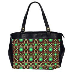 Pattern Background Bright Brown Office Handbags (2 Sides)