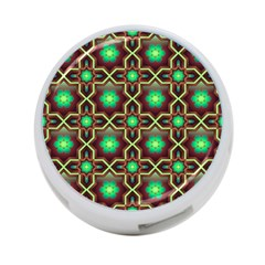 Pattern Background Bright Brown 4-Port USB Hub (Two Sides)
