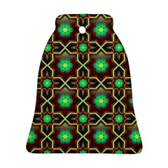 Pattern Background Bright Brown Bell Ornament (two Sides)