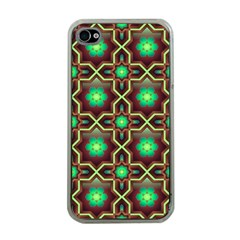 Pattern Background Bright Brown Apple Iphone 4 Case (clear)