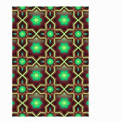 Pattern Background Bright Brown Small Garden Flag (two Sides)