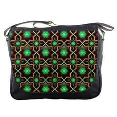 Pattern Background Bright Brown Messenger Bags