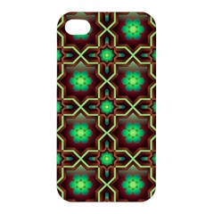 Pattern Background Bright Brown Apple Iphone 4/4s Premium Hardshell Case