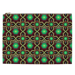 Pattern Background Bright Brown Cosmetic Bag (XXL)