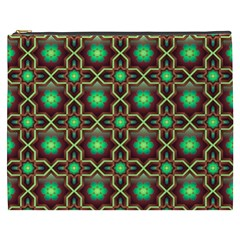 Pattern Background Bright Brown Cosmetic Bag (xxxl)