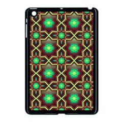 Pattern Background Bright Brown Apple iPad Mini Case (Black)