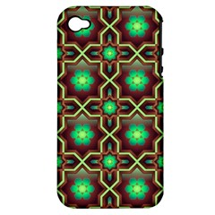 Pattern Background Bright Brown Apple Iphone 4/4s Hardshell Case (pc+silicone)
