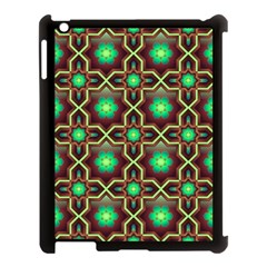 Pattern Background Bright Brown Apple Ipad 3/4 Case (black)