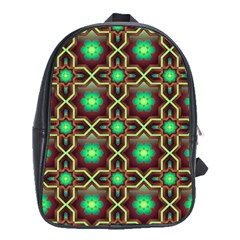 Pattern Background Bright Brown School Bags (xl)